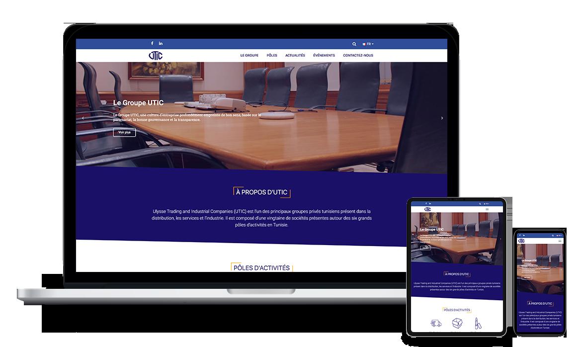 Site web du Groupe UTIC