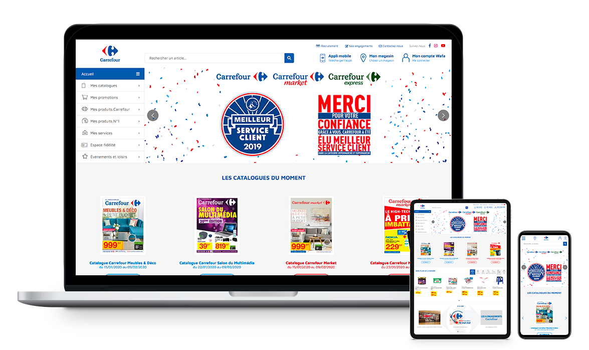 Site web de Carrefour Tunisie