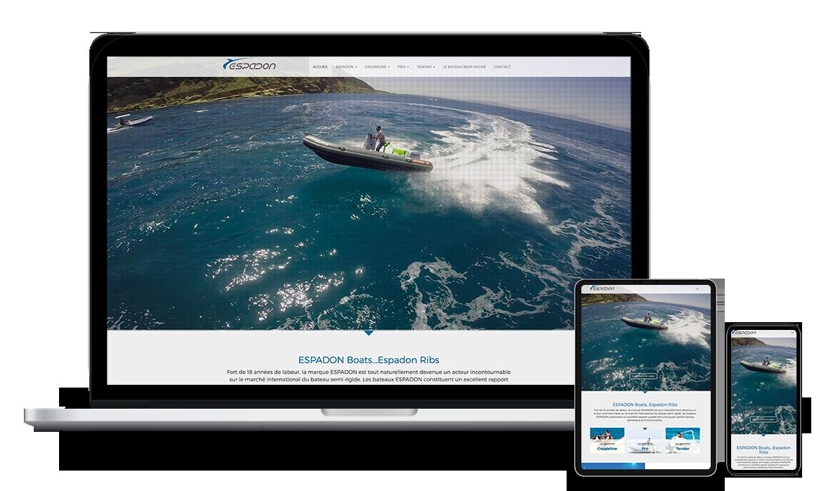 Site Web de Espadon Boats Tunisie