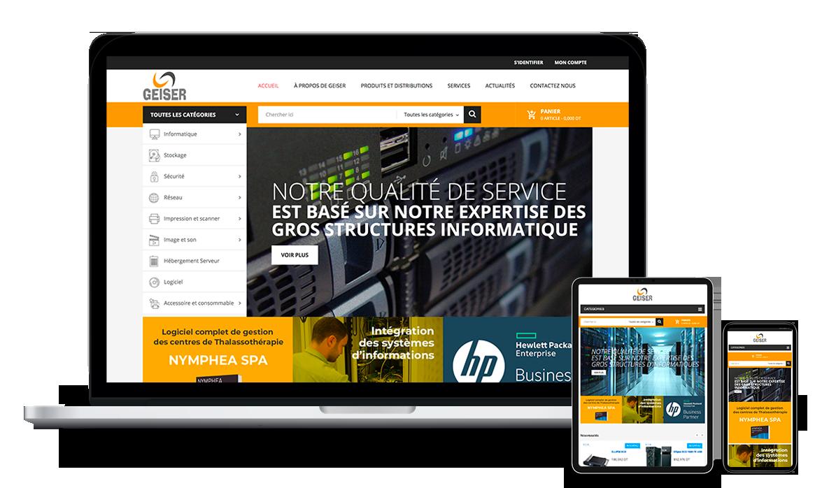 Site Web de Geiser Tunisie