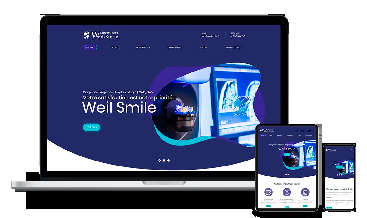 Site web de Labo Weil Smile