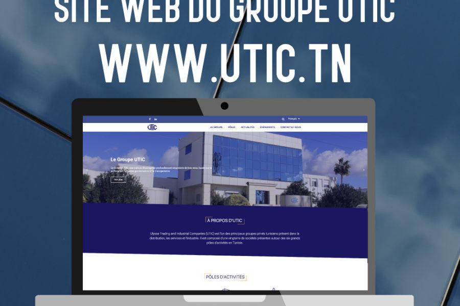 Web2code lance le ite web de UTIC