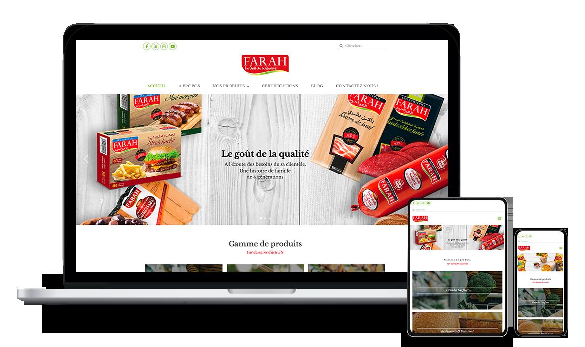 Site web de la société Farah