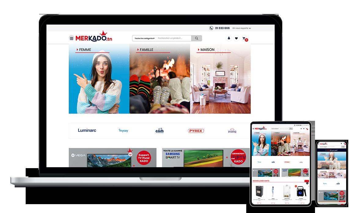 Merkado: Site E-commerce