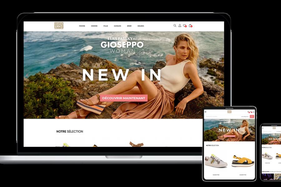 Site web de Gioseppo Tunisie